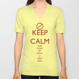 Maybe, Don't Keep Calm Unisex V-Neck