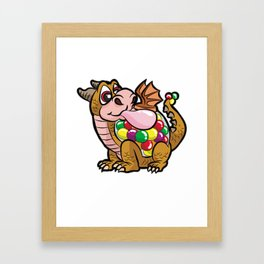 DRAGUM DRAGON BUBBLE GUM FUNNY CARTOON COMIC GIFT Framed Art Print