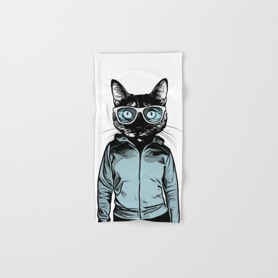 Cool Cat Hand & Bath Towel