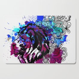 Purple Lion Spirit Cutting Board