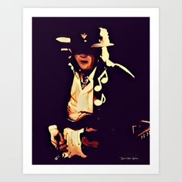 Caught In The Crossfire - SRV - Graphic 4 Art Print