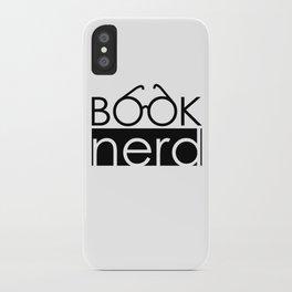 Book Nerd Logo Glasses  iPhone Case