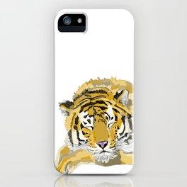 Sleepy Tiger iPhone Case