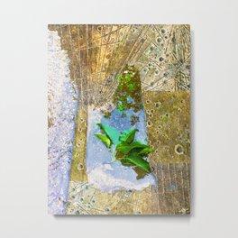 Leaves In Water Metal Print