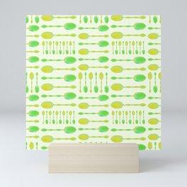 Unique Artsy Spoons! (Light Green) Mini Art Print