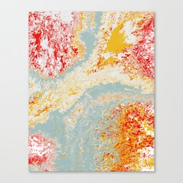 Splashtastic Red Yellow Blue Ocean of Fire Abstract Canvas Print