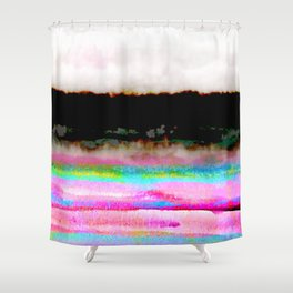 abstract landscape colorful modern painting Shower Curtain