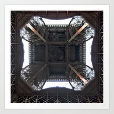 Under Eiffel HDR Art Print