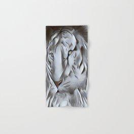 White Tiger Hand & Bath Towel