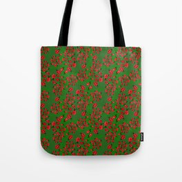 Ladybug in green Tote Bag