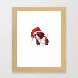Christmas puppy dog shirt Framed Art Print