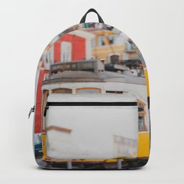 Yellow Tram in Lisbon Backpack