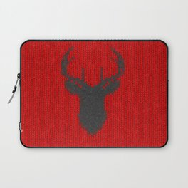 Antiallergenic Hand Knitted Deer Winter Wool Texture - Mix & Match with Simplicty of life Laptop Sleeve
