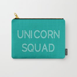 Unicorn Squad - Aqua Blue Green and White Carry-All Pouch