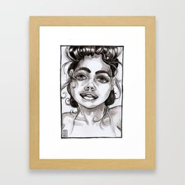 Woke Up Like This Framed Art Print