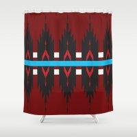 navajo Shower Curtains featuring Navajo Horizon by TheCameronCash Designs