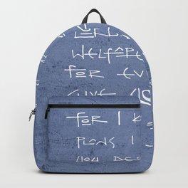 I have plans for you. Christian bBiblical illustration Backpack