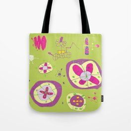 Flower Planets Tote Bag