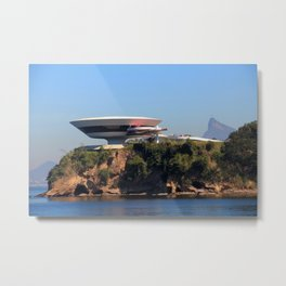 MAC Niterói | Oscar Niemeyer Metal Print