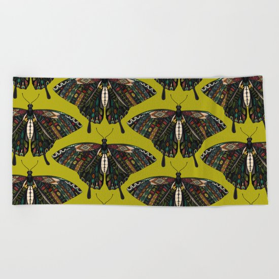swallowtail butterfly citron Beach Towel
