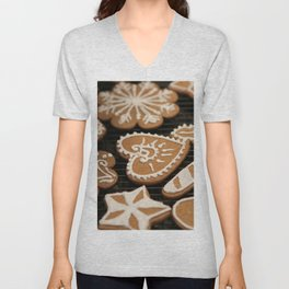 Holiday Iced Cookies Unisex V-Neck
