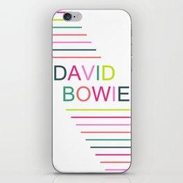 bowie stripe iPhone Skin