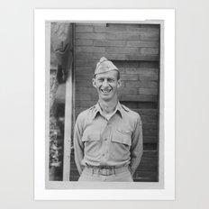 Smiling Serviceman Art Print