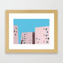 Millennial Pink City Framed Art Print
