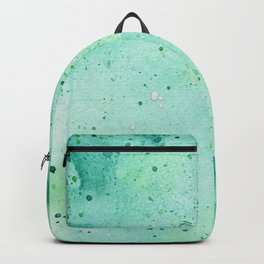 Blue and Green Abstract Backpack