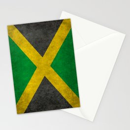 Jamaican flag, Vintage retro style Stationery Cards