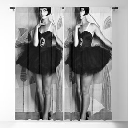 Louise Brooks, The Girl That Danced the Charleston, Jazz Age Flapper black and white photography - photographs wall decor Blackout Curtain