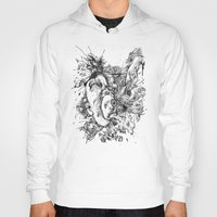 panic at the disco Hoodies featuring panic by Maethawee Chiraphong