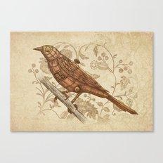 Steampunk Songbird  Canvas Print