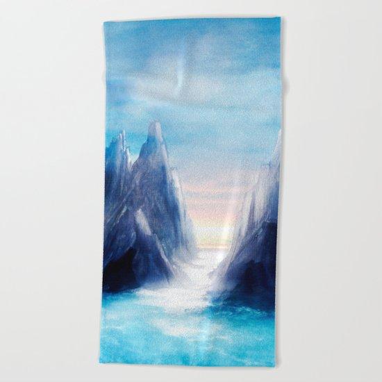 Over The Mountains III Beach Towel