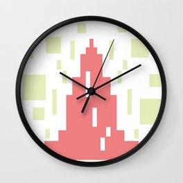 Mosaic building #society6 #decor #buyart #artprint Wall Clock