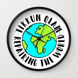 Tikkun Olam repairing the world Wall Clock