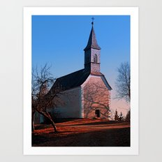 The village church of Hollerberg II | architectural photography Art Print