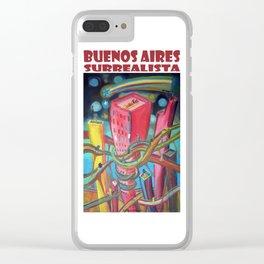 Buenos Aires Surrealista por Diego Manuel Clear iPhone Case