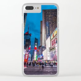 Time Square NYC Clear iPhone Case