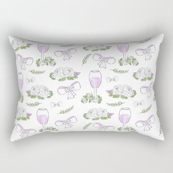 Watercolor seamless romantic print Rectangular Pillow