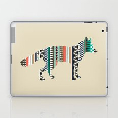 Fox With Tribal Pattern Laptop & iPad Skin