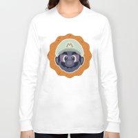mario Long Sleeve T-shirts featuring Mario by Kuki
