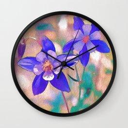 Colorado State Flower Wall Clock