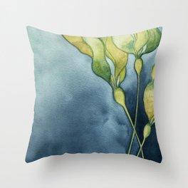 Bull Kelp Watercolor Throw Pillow
