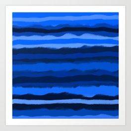 Hazy Blue Stripes Art Print