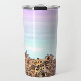 New York Purple Sky Travel Mug