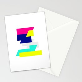 Kinetic Energy, Neon Color Blocks Stationery Cards