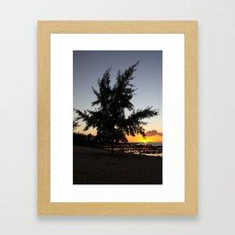 Mauritian Sunset Framed Art Print