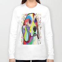 beagle Long Sleeve T-shirts featuring BEAGLE by EloiseArt