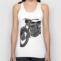 motorcycle Tank Tops featuring Motorcycle by Gemma Bullen Design